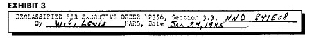 Declassification Slug from 000.9 files, Jan 24, 1985